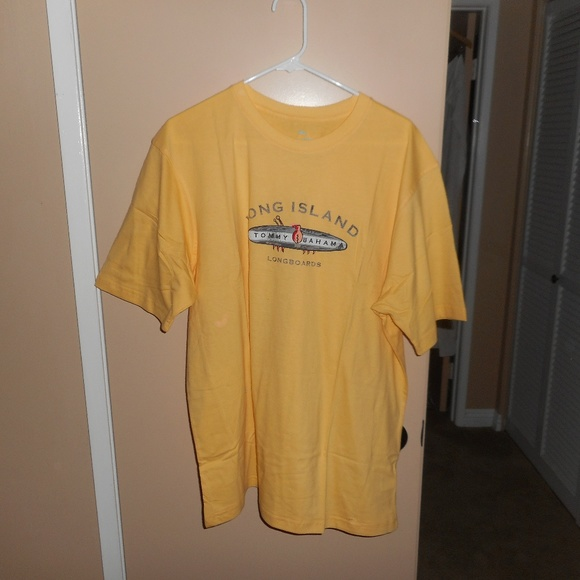 NWT MENS TOMMY BAHAMA FINISH WHAT YOU STOUTED WHITE SHORT SLEEV CREW T SHIRT S L